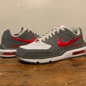 Nike Air Wright Air Max Sneakers Red Gray Size 11